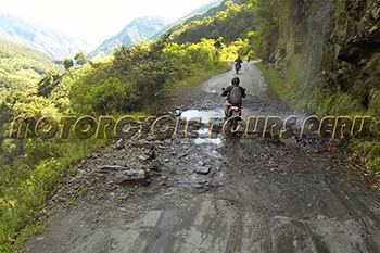 Motorcycle Tours to Machu Picchu, waterfall along the road