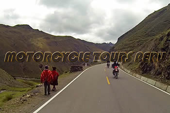 On the way to Machu Picchu by Motorcycle - Peruvian Andes