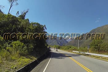 Moto adventure to Machu Picchu, close to Veronica snow-capped moutain