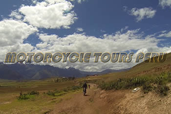 Amazing dirt road to Moray in the Sacred Valley of the Inkas
